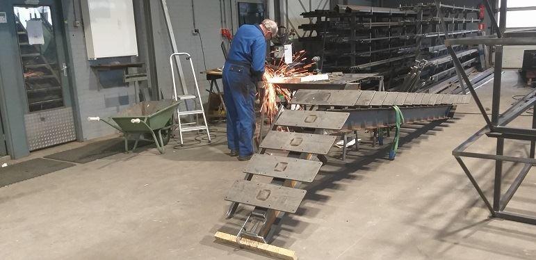 trap gemaakt in onze werkplaats