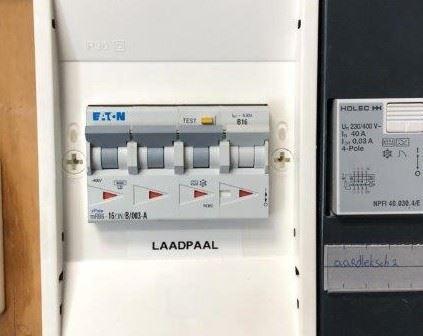 aanpassing meterkast ten behoeve van laadpaal