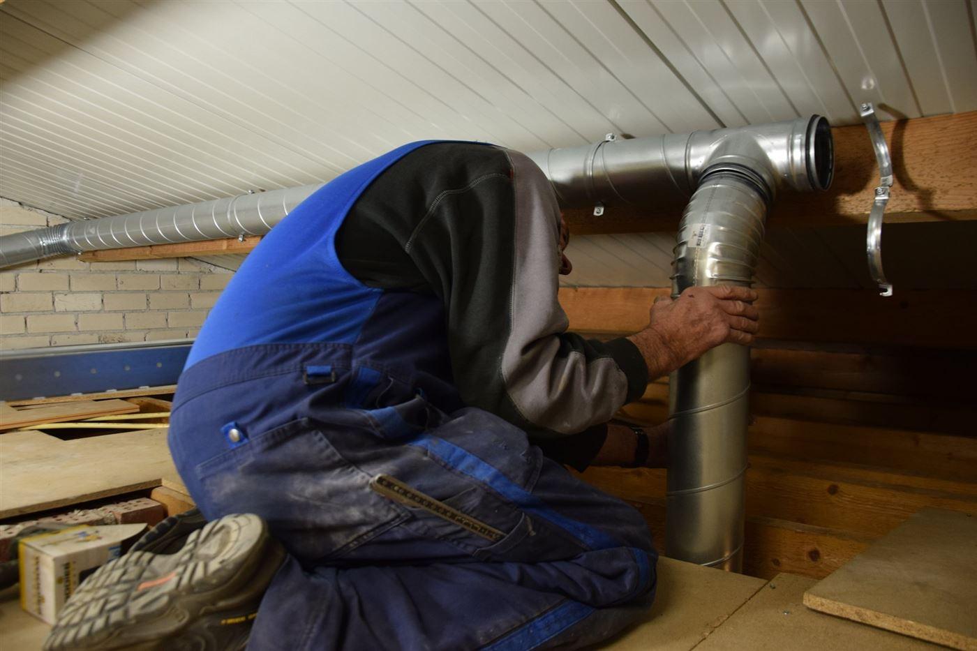 montage ventilatiekanalen