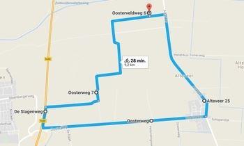 route alteveer middelveld